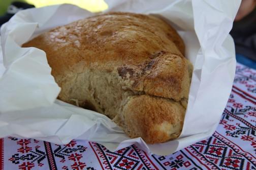 Tradicinė duona Viscri miestelyje