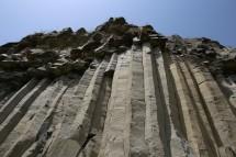 Bazalto kolonos šalia Racos kraterio