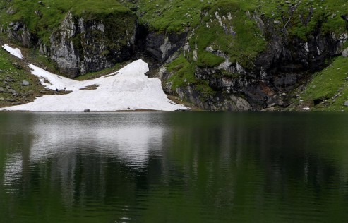 Balea ežeras Fagarašo kalnuose