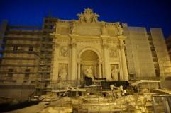 Remontuojamas Trevi fontanas.