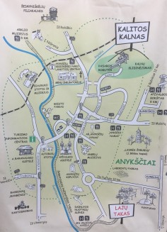 Anykščių veiklų žemėlapis