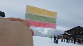 Keliam vėliavą, Vasario 16-oji, Arabba, Italija