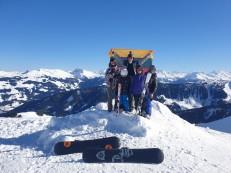 Kitzbuhel slidinėjimo regionas, 2019 vasario 16 d. išvakarės.
