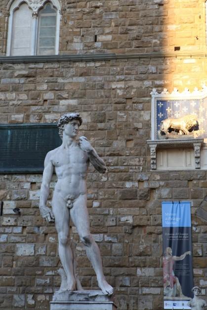 Palazzo Vecchio ir Dovydo kopija