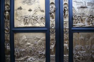 Šv. Jono krikštykla. Lorenzo Ghiberti durų reljefai