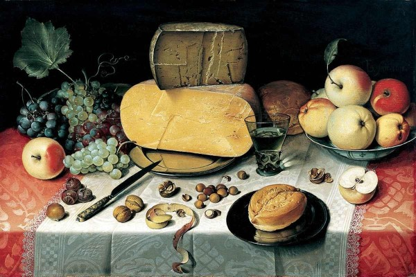 Still Life With Fruit, Nuts and Cheese, Floris Claesz van Dijck, 1613