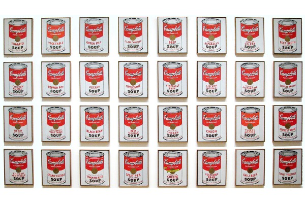 Andy Warhol, Campbell Soup Cans, 1962.