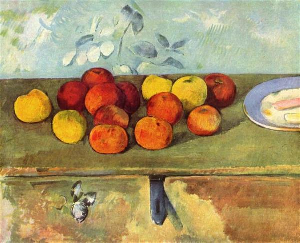 Paul Cezanne, Apples and Biscuits, 1895