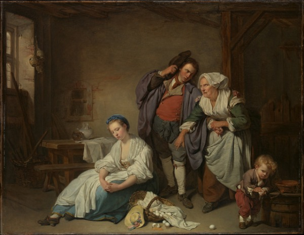Jean Baptiste Greuze, Broken Eggs, 1756