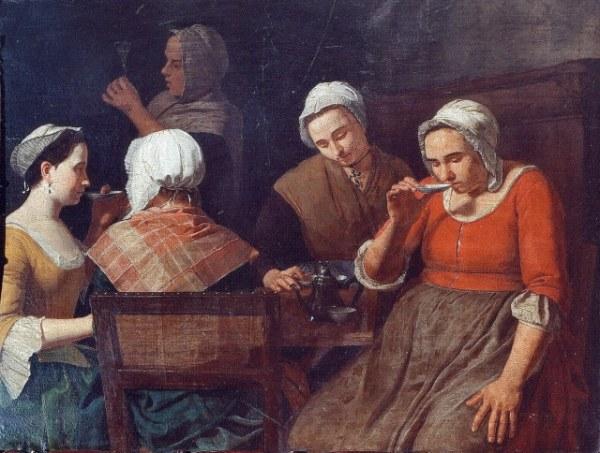Léonard Defrance, Femmes buvant le café, 1763, Musée dAnsembourg Liège.