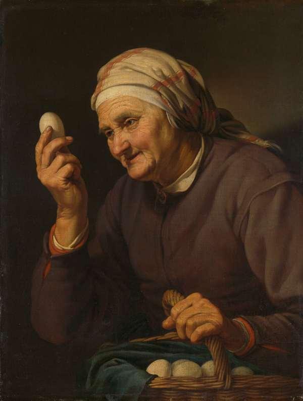 Hendrick Bloemaert, Old Woman Selling Eggs, 1632.