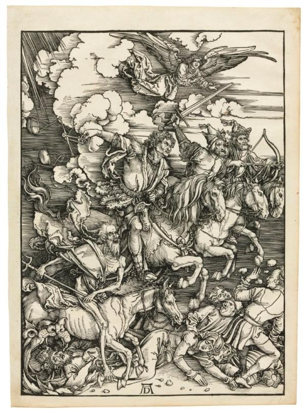 Albrecht Dürer, The Four Horsemen of the Apocalypse, c1496-98, published 1511.