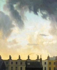 Algernon Newton, Evening Sky Over Kensington Church Street.