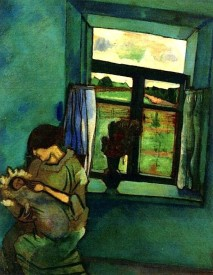 Marc Chagall, Bella and Ida by the Window, 1916.