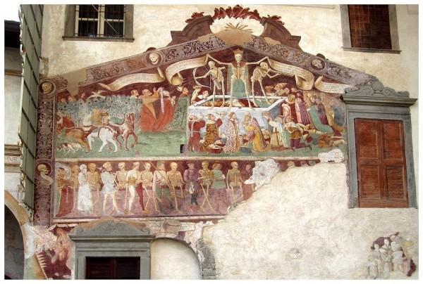 Giacomo Borlone de Burchis, The Triumph of Death with The Dance of Death, 15th century, Oratorio dei Disciplini in Clusone, Italy.