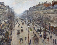 Camille Pissarro, Boulevard Montmartre, Morning. Cloudy Weather, 1897.