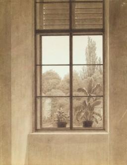 Caspar David Friedrich, Window Looking Over the Park, Germany, 1837.