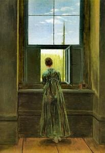 Caspar David Friedrich, Woman at a Window, 1822.