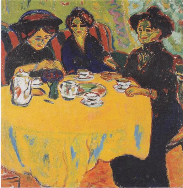 Ernst Ludwig Kirchner, Coffee Drinking Women, 1907
