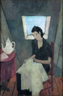 Felice Casorati, Cucitrice Nella Soffitta, 1931.