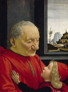 Domenico Ghirlandaio, Portrait of an Old Man and a Young Boy, 1490.