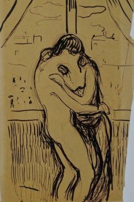 Edvard Munch, Preparatory sketch for The Kiss, 1897.