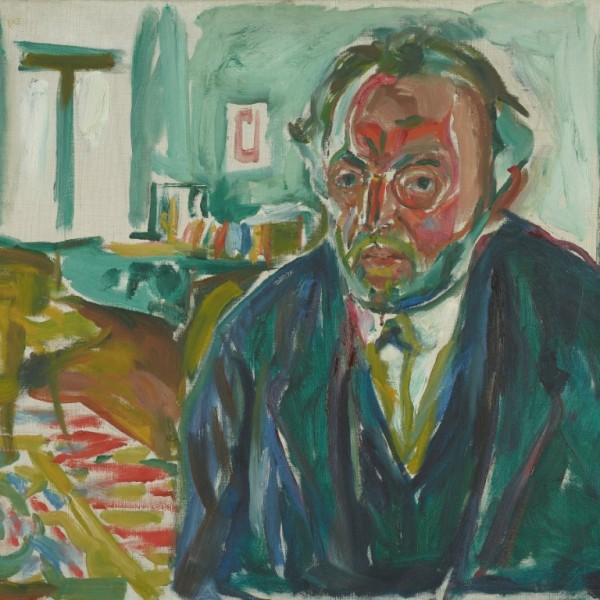 "Edvard Munch, ""Self-Portrait After the Spanish Flu"", 1919."