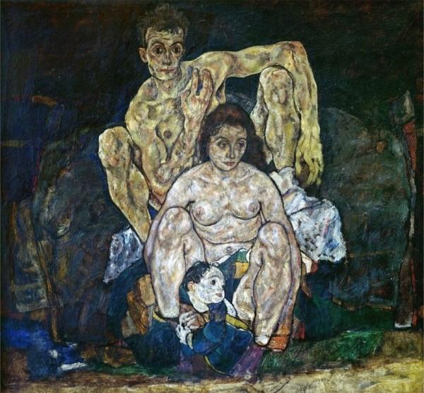 Egon Schiele, The Family, 1918, Belvedere, Vienna.