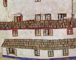 Egon Schiele, Windows Facade of a House, 1914.