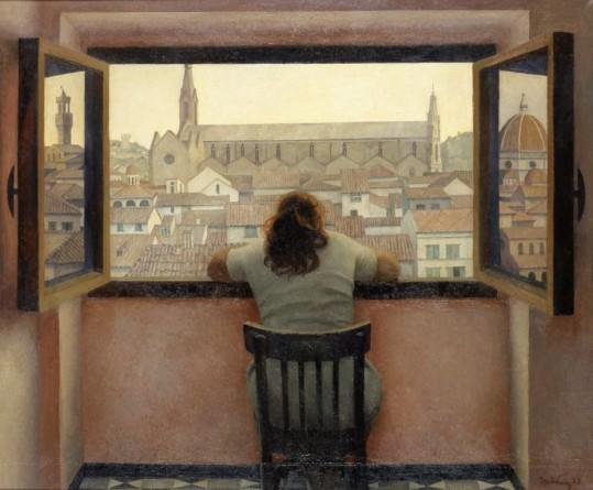 Tetyana Yablonska, Evening, Old Florence, 1973.