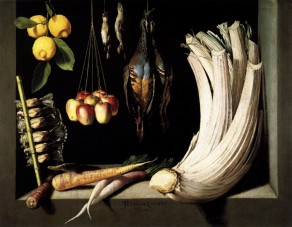 Fra Juan Sánchez Cotán, Still Life with Game Vegetable and Fruit, 1602.