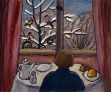 Gabriele Münter, Breakfast of the Birds, 1934.