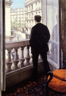 Gustave Caillebott, Young Man at His Window, the Artists Brother René, 1875.