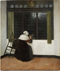 Jacobus Vrel, Woman at a Window waving at a Girl.