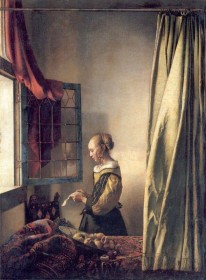 Johannes Vermeer, Girl Reading a Letter at an Open Window, 1657-59