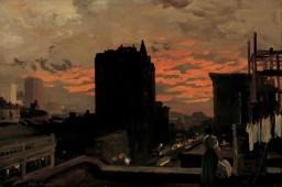John Sloan, Sunset, West, Twenty third Street, New York City, 1906.