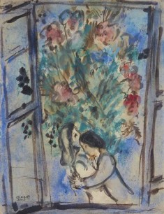 Marc Chagall, Lovers in the Window, 1935.