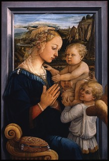 Fra Filippo Lippi, Madonna and Child with Two Angels, 1465.