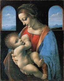 Leonardo da Vinci, Madonna Litta, 1490th.