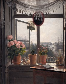 Martinus Rørbye, View from the Artists Window, 1825.