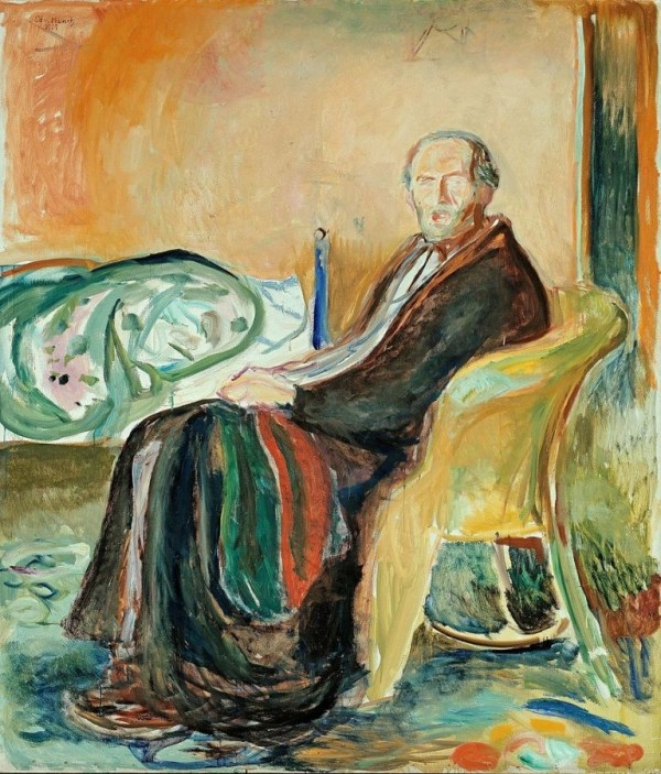 Edvard Munch, Self-Portrait After Spanish Influenza, 1919, Oslo, at the National Gallery.