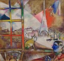 Marc Chagall, Paris through the window, 1913.
