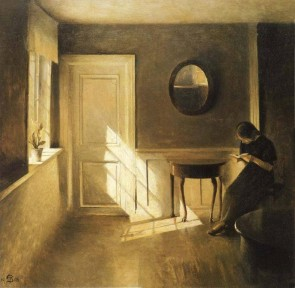 Peter Ilsted, Girl Reading a Letter in an Interior, 1908.