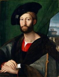 Raphael Sanzio, Portrait of Giuliano de Medici Duke of Nemours, 1515.