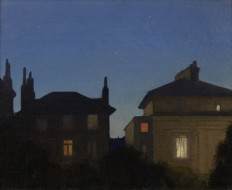 Sir George Clausen, Summer Night The-rooftops of Carlton Hill, St. John's Wood London.