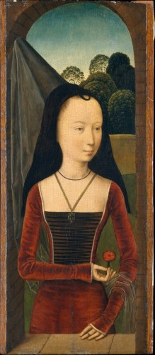 Hans Memling, The Allegory of true Love, diptych, left panel, 1480th.