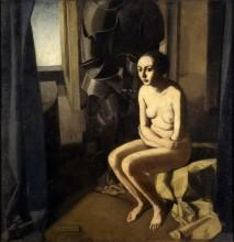 Felice Casorati, The Woman and the armor.