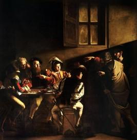 Caravaggo, The Calling of Saint Matthew , 1599-1600.