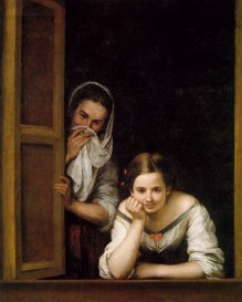 Murillo, Two Women at a Window, 1655-1660.