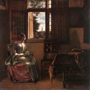 Pieter de Hooch, Woman Reading a Lletter,1664.